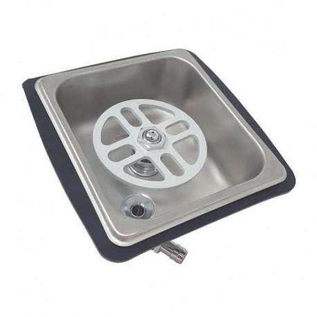 CELLI Pitcher Rinser with drip tray inox  PR500523