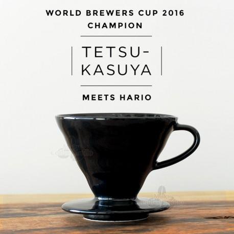 HARIO Coffee Dripper V60 size-02 ceramic Kasuya blk KDC02B