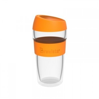 BREWISTA Smart Travel Mug 450ml glass orange BDWKC450OG